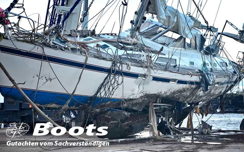 Schadengutachten für Boote und Yachten